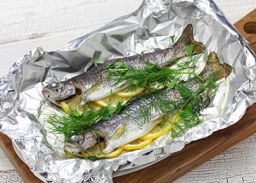 Recept forel op de barbecue