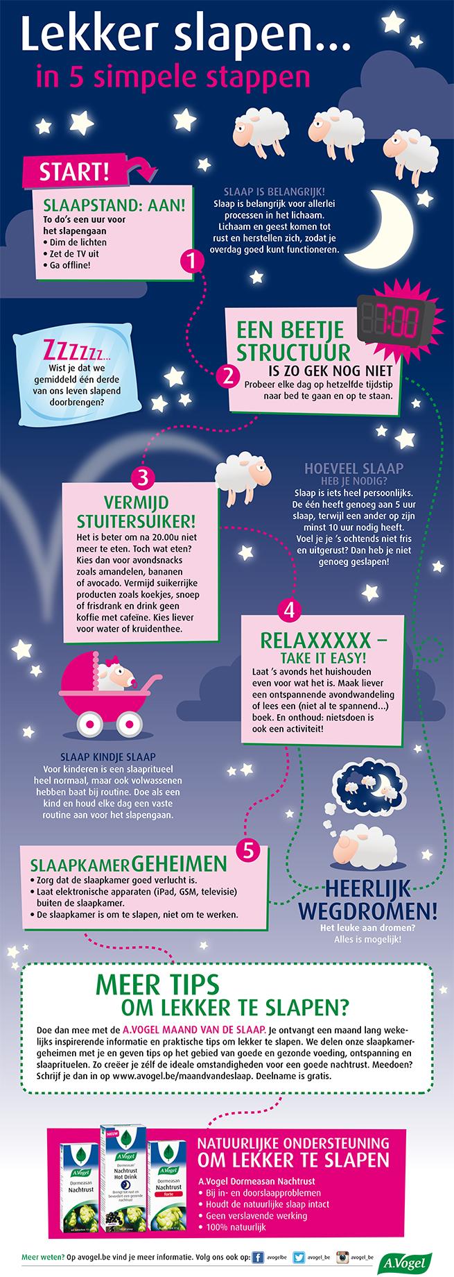Lekker slapen in 5 simpele stappen