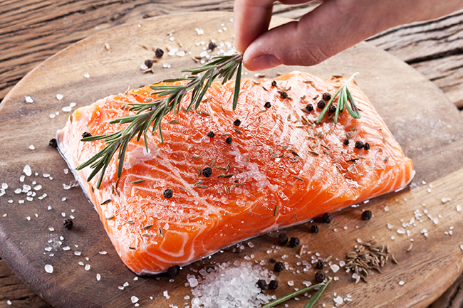 voedingstips - overgang - zalm