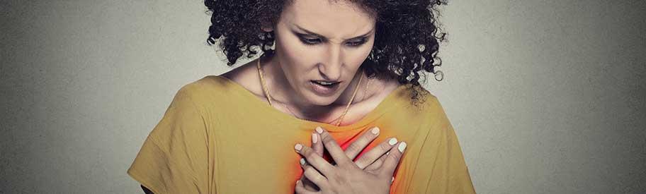 hartkloppingen bij overgang