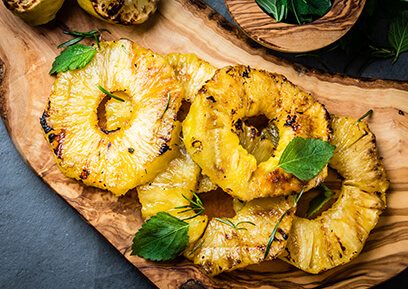 recette Ananas au barbecue